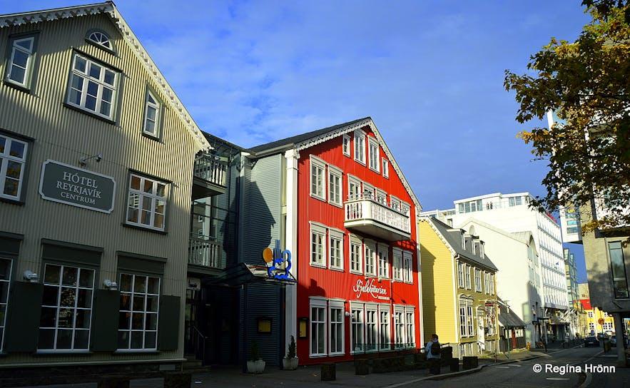Aðalstræti street, the oldest street in Reykjavík