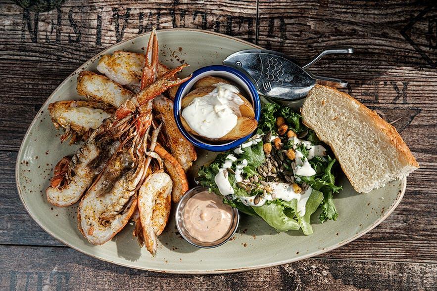 美味十足的冰岛龙虾