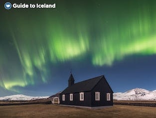 The sparsely populated Snæfellsnes Peninsula in west Iceland is great for aurora hunting.