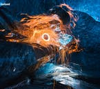 Ice caves in Iceland, located in the south and open only in winter, are great places to practice photography.