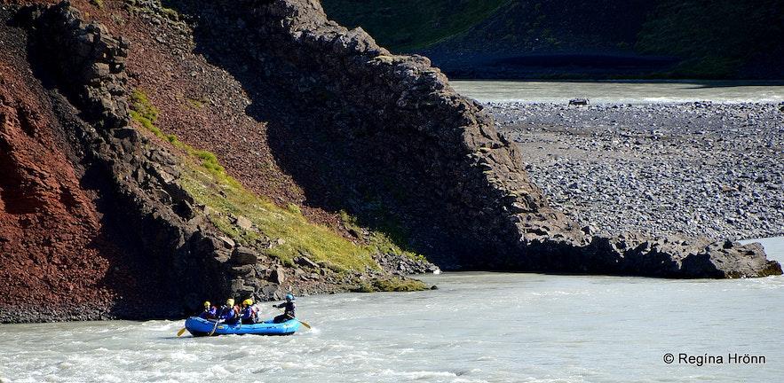 River rafting on Austari Jökulsá Skagafjörður