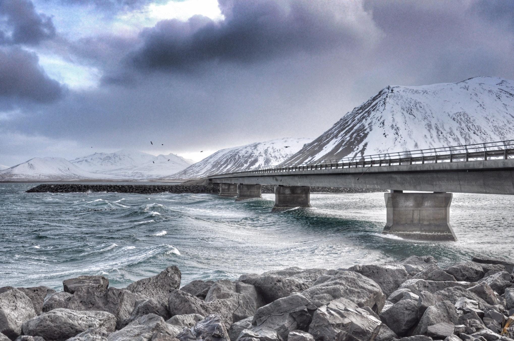 The bridge that crosses Kolgrafafjörður on the north side of Snæfellsnes peninsula