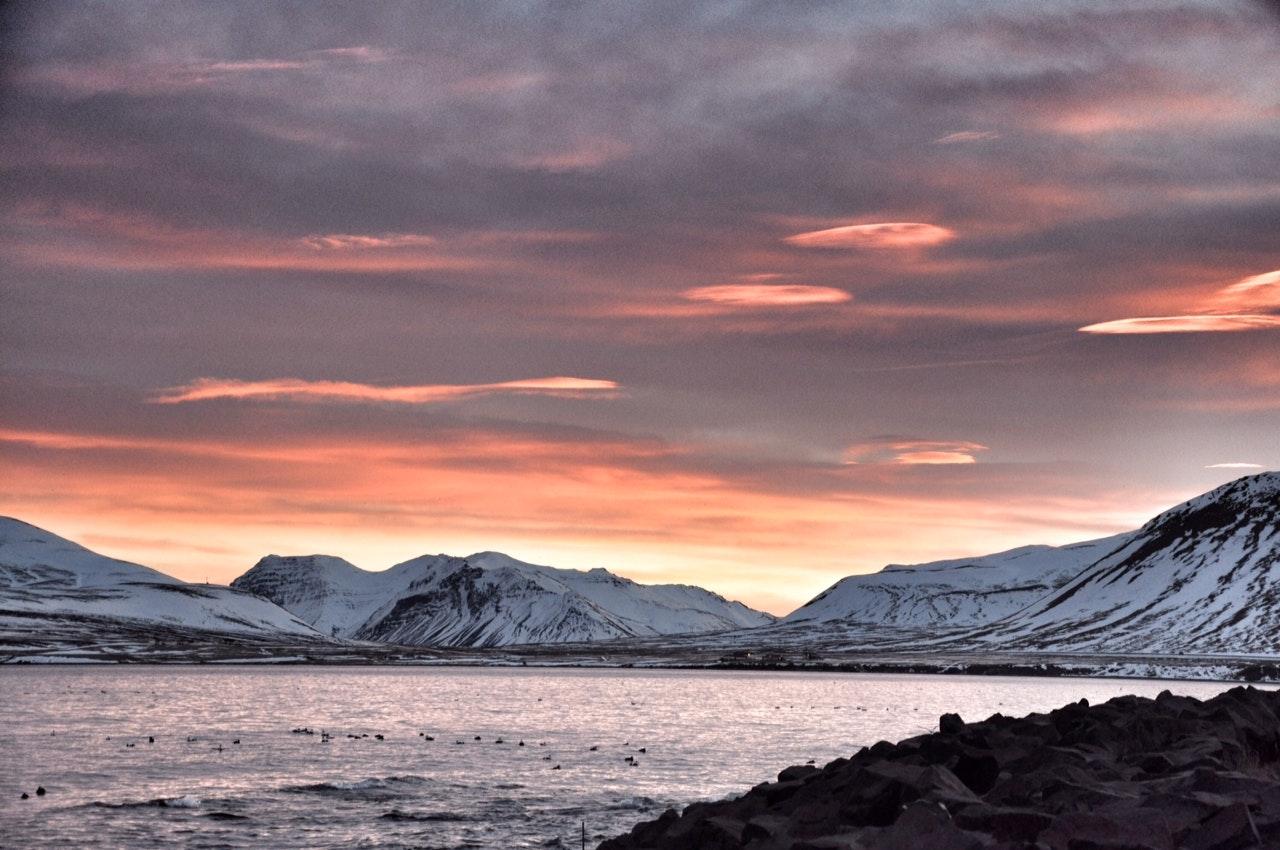 Sunset in Snæfellsnes peninsula