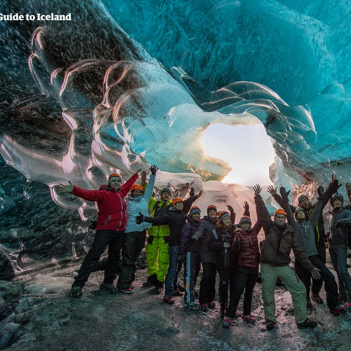 On a two-week winter journey in Iceland, you can experience the ice caves.