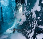 Ice caves are rare natural wonders that only open in Iceland in the depths of winter.