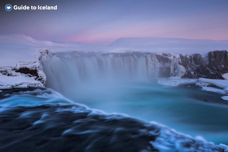 Goðafoss waterfall is near the capital of north Iceland, Akureyri, and has a wealth of history.