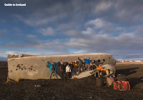 In south Iceland, there is an old plane wreck that guests can visit.