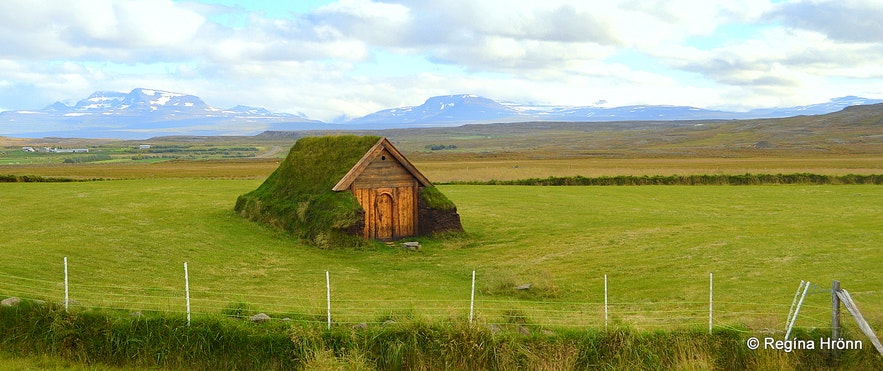 The beautiful Geirsstaðakirkja Turf Church in East-Iceland - a Replica of an old Turf Church
