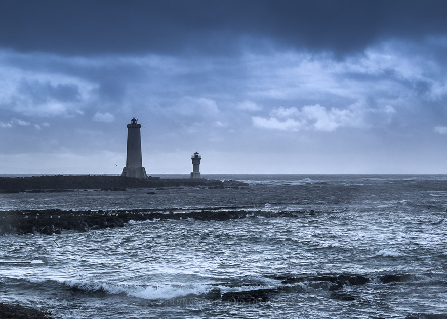 Akranes lighthouse in west Iceland