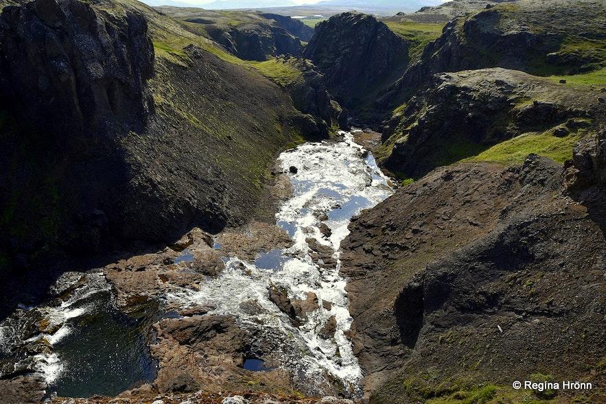 Tröllafoss - Trolls' Falls in Mosfellsdalur Valley in South-West Iceland