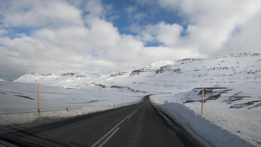 Icelandic landscape in east fjords