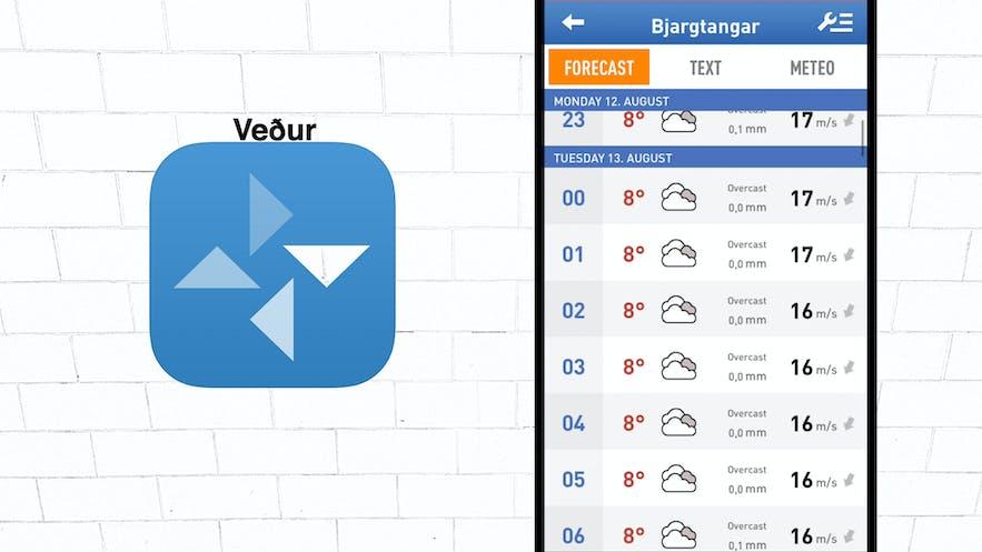 Vedur app