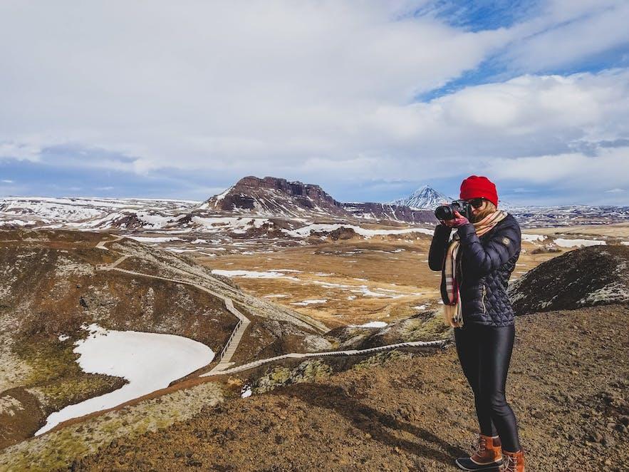 Grabrok Crater Iceland