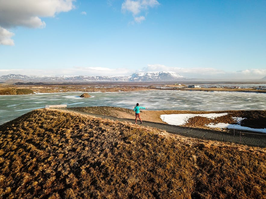 Pseudocraters at Myvatn Lake Iceland