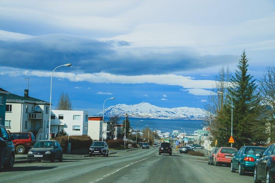 Akureyri on Ring Road Iceland