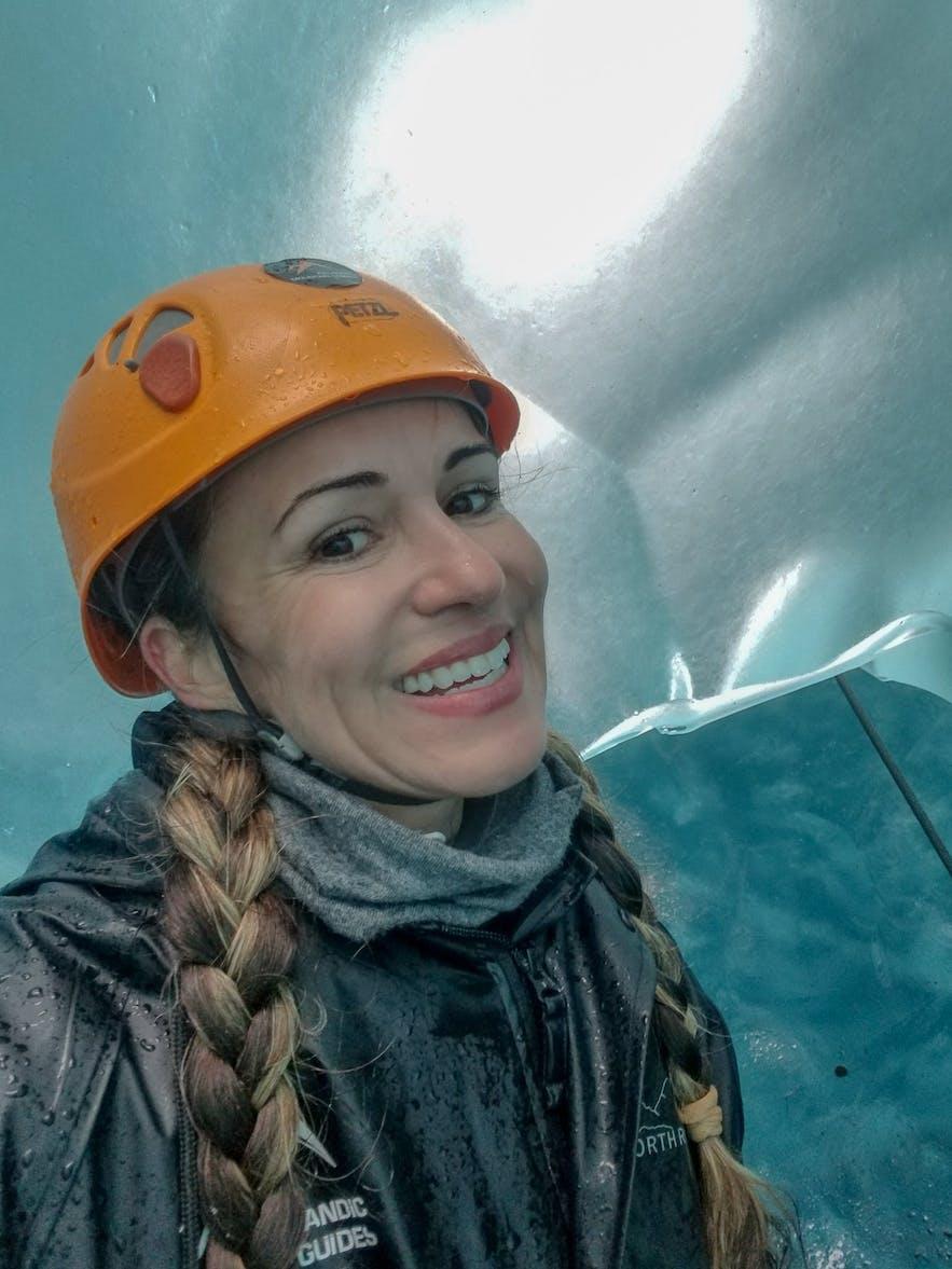 Inside Ice Cave Skaftafellsjokull