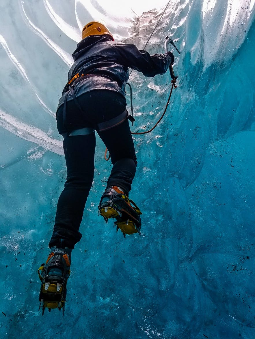 Climb Ice Wall with Icelandic Mountain Guides