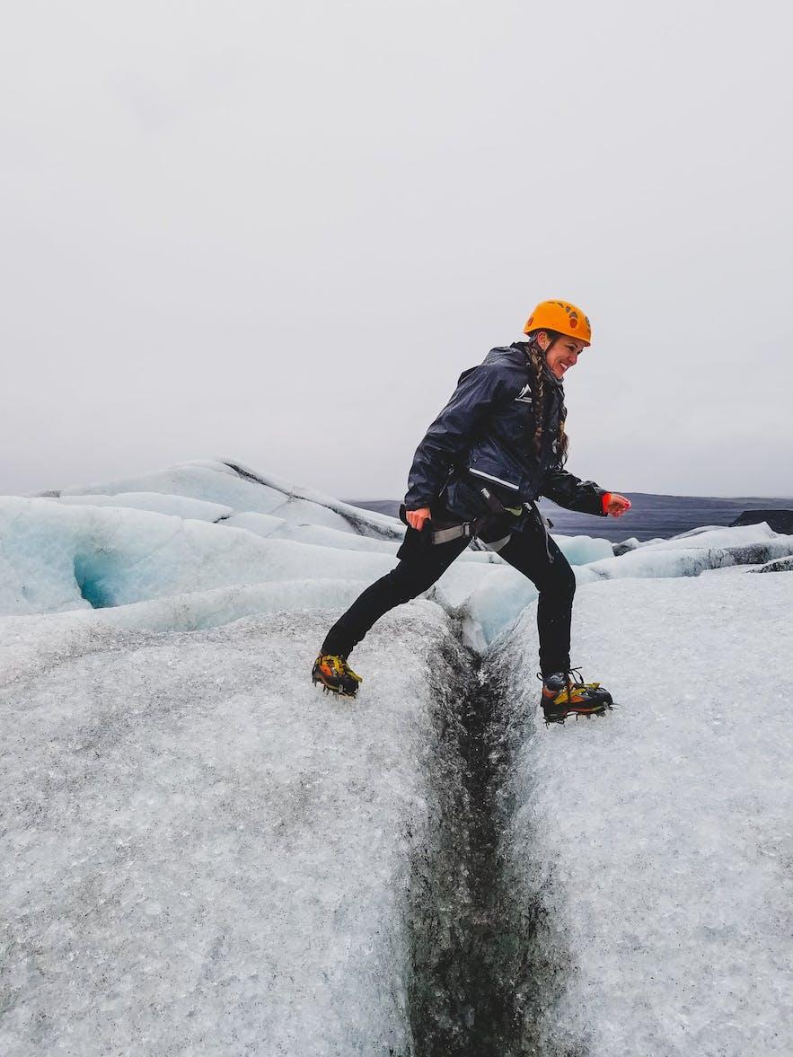 Skaftafellsjokull Glacier Hike with gear