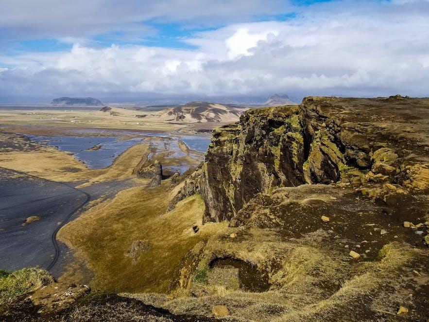 View from Gljufrabui Iceland