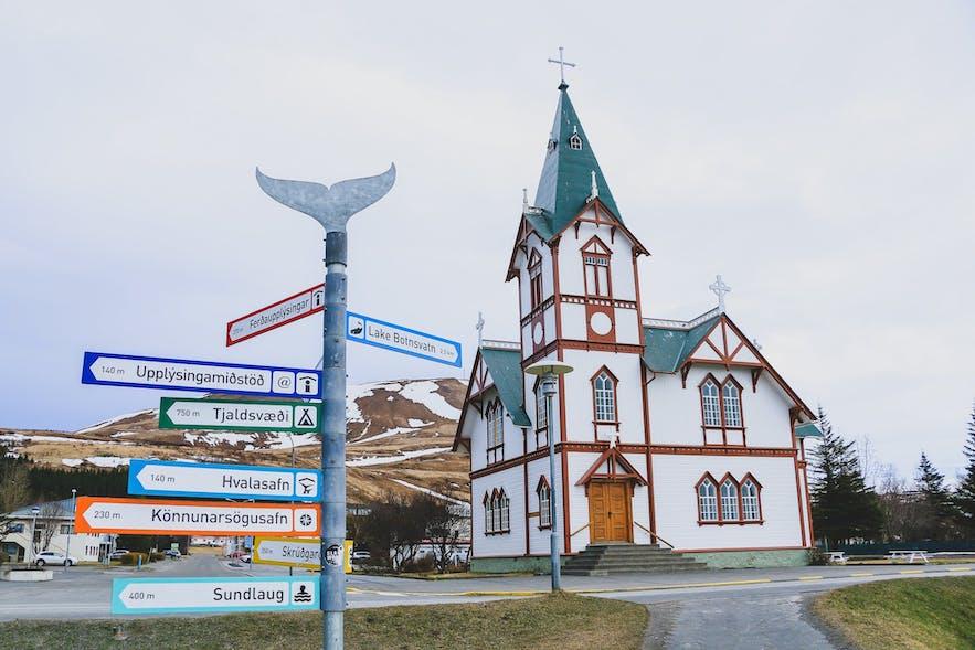 Husavik picture of church