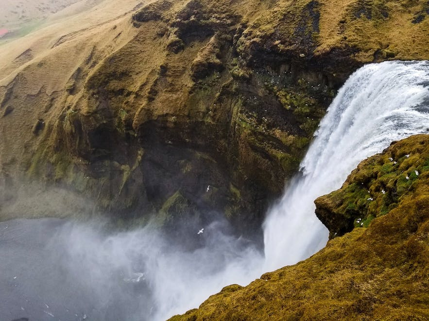 Picture from top Skogafoss Iceland Ring Road