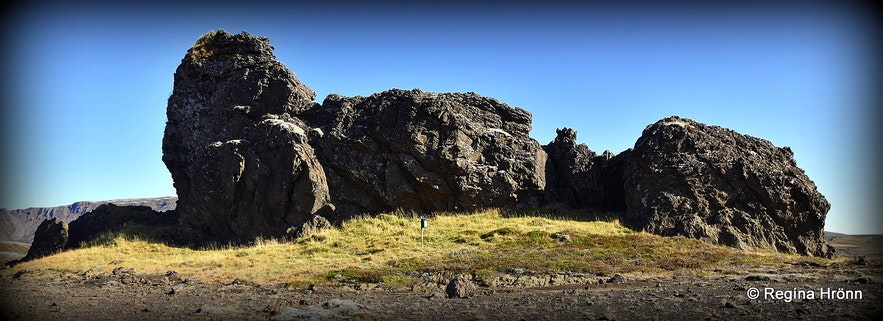 The Elf-church Álfakirkja at Laugarvatnsvellir plains in Iceland