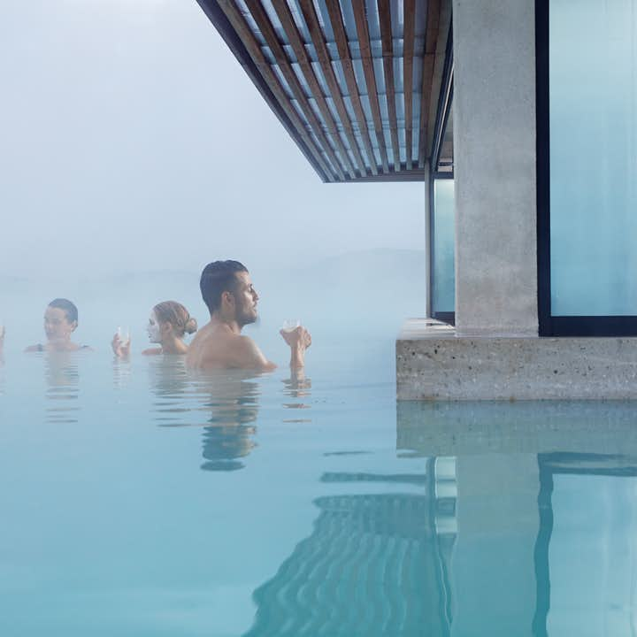 Guests enjoying their time in the Blue Lagoon