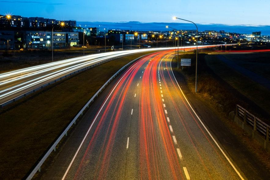 Feierabendverkehr in Reykjavik
