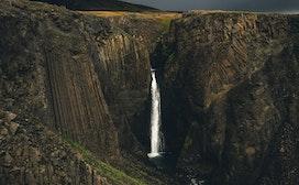 Litlanesfoss瀑布