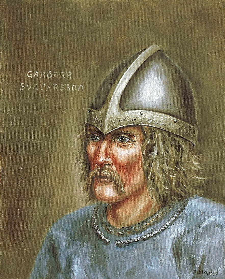 The first norseman to ever reach Iceland—Garðar Svavarsson.