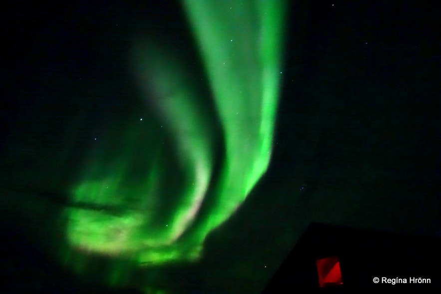 Northern lights at Mývatn North-Iceland
