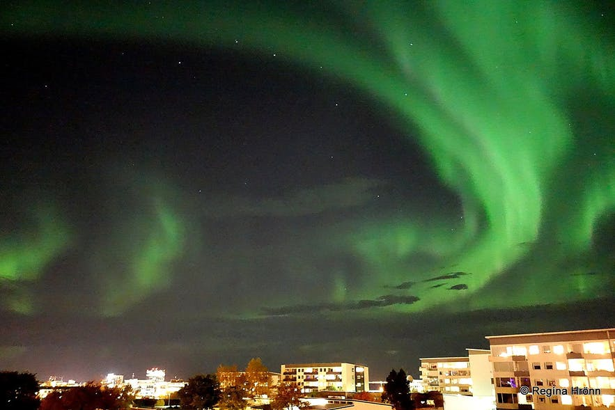Beautiful Northern Lights in Reykjavík and Winter Activities in Iceland