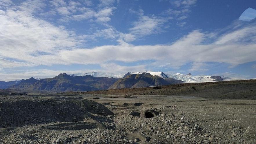 Más vistas del glaciar desde el todotorreno