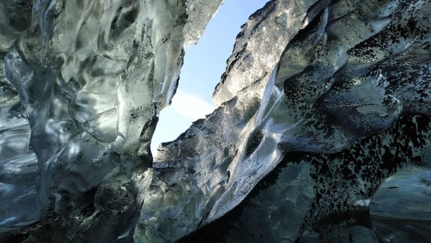 Vistas hacia el exterior desde la cueva