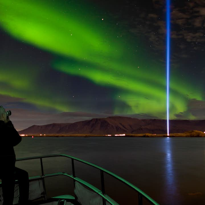 Watch Northern Lights on a Boat in Reykjavik