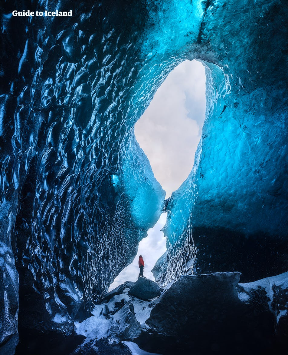 Ice caves in Iceland are different every time they form.