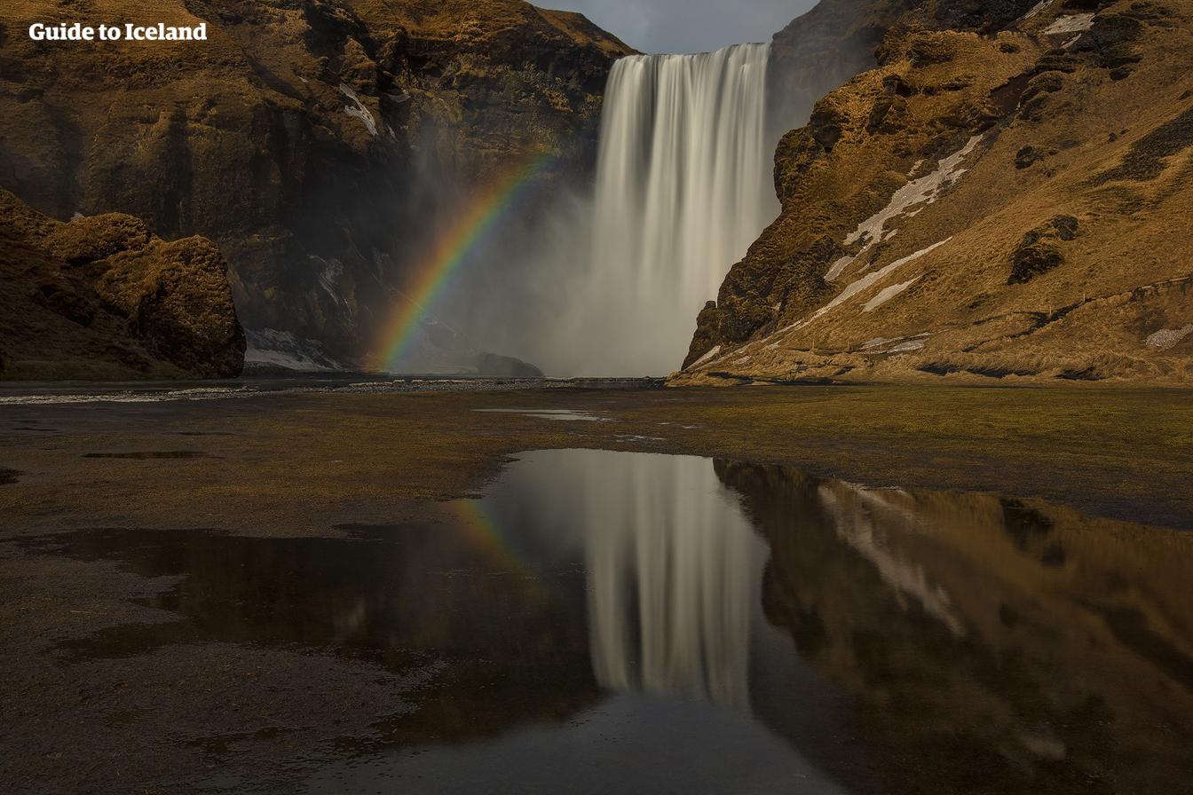 斯科加瀑布是冰岛南岸最受游客欢迎的瀑布之一。