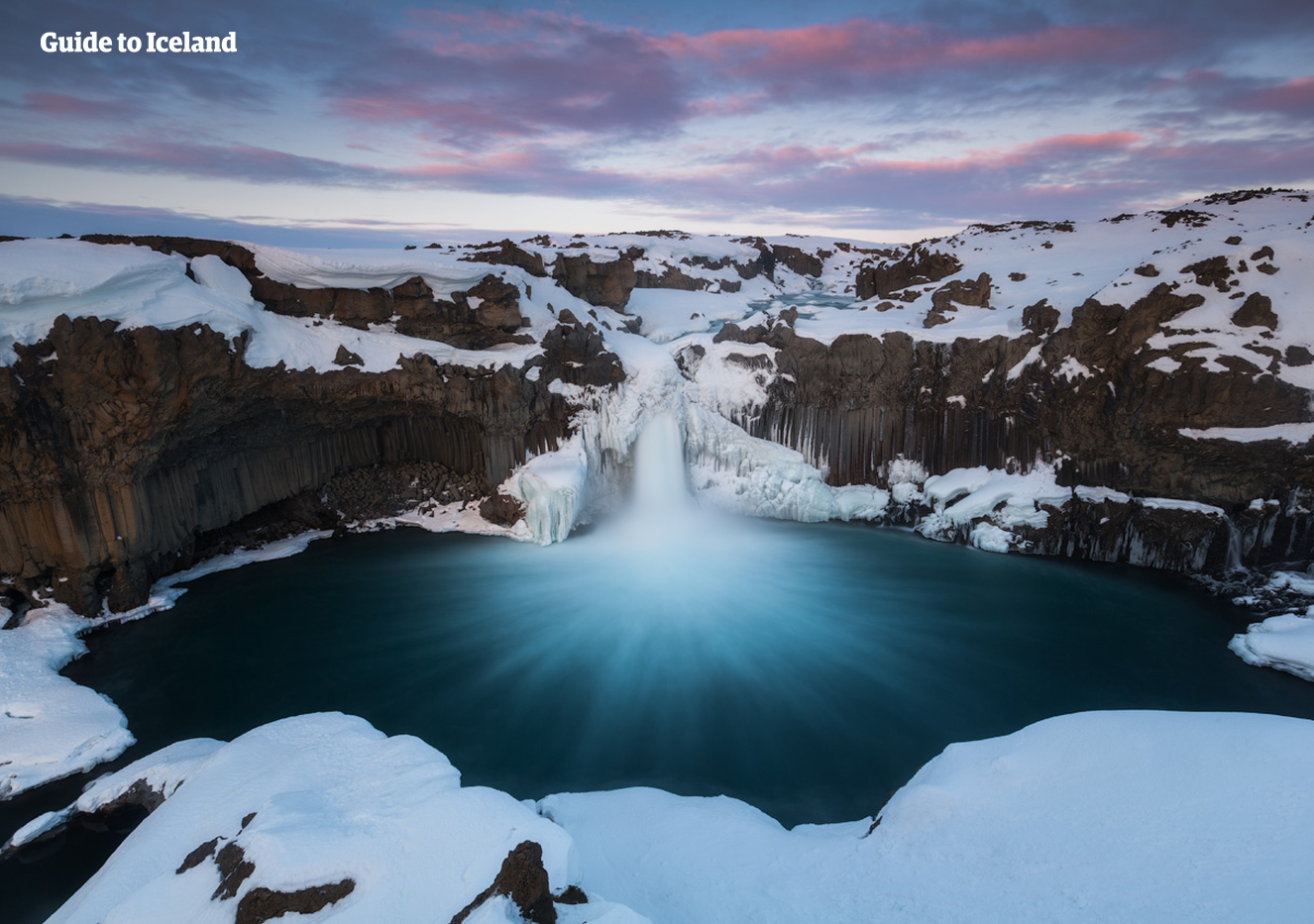 Aldeyarfoss is a waterfall located in the north of Iceland.