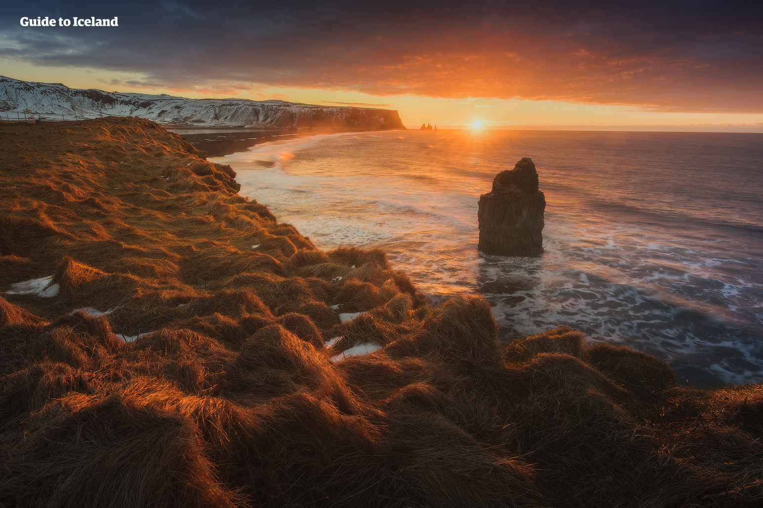 The rock formations off the South Coast of Iceland is very photogenic.
