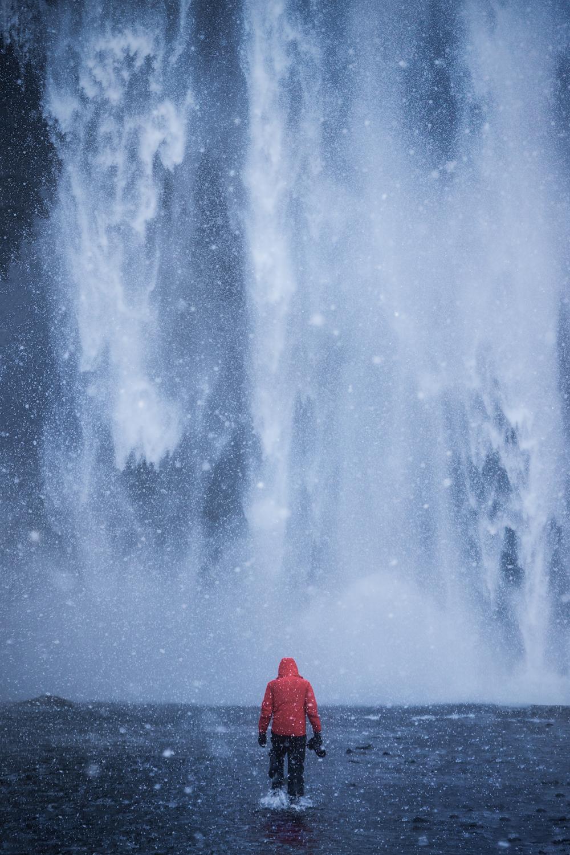 Get close to the spray of Skógafoss for unique photographs.