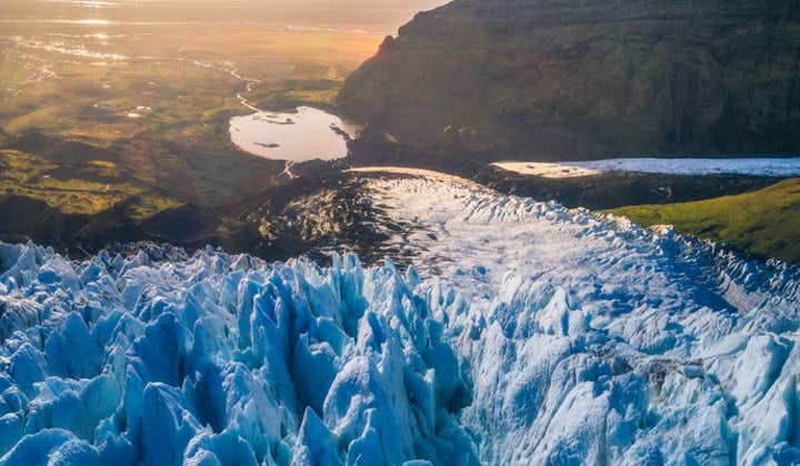 In Skaftafell, there are several glaciers you can hike.