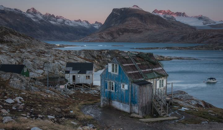 Many of the buildings in Greenland have beautiful views over the coast.