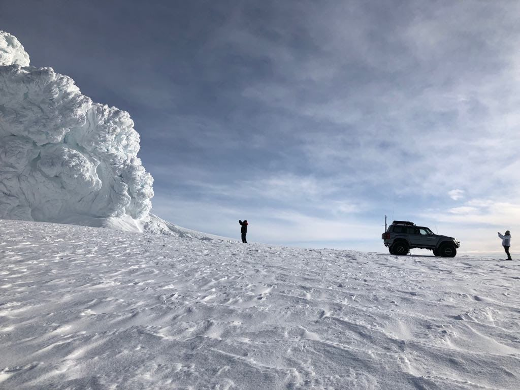 Super Jeeps can scale Iceland's mighty glaciers.
