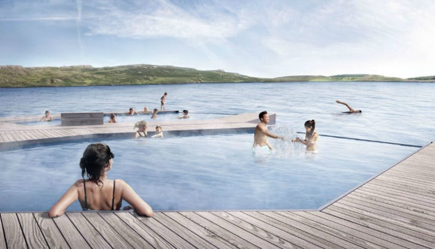 Relax at the Vök Baths in east Iceland.