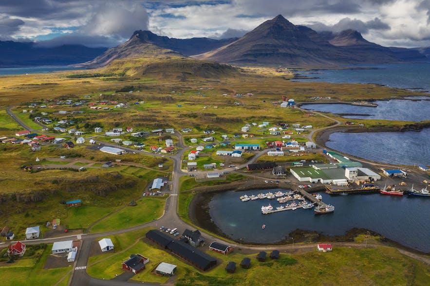 Fiordy Wschodnie na Islandii.