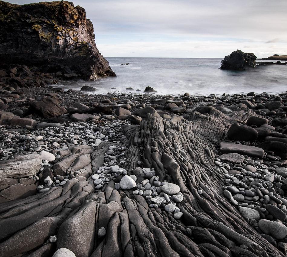 Hellnar beach in west Iceland