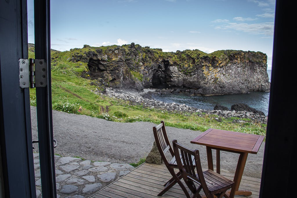 Hellnar café in Iceland