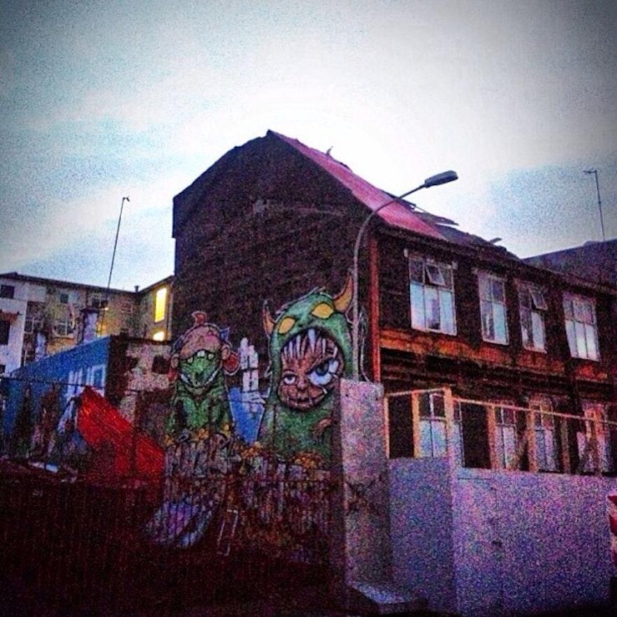Art in the streets of Reykjavík