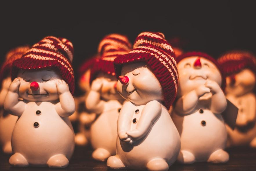 冰岛的圣诞装饰