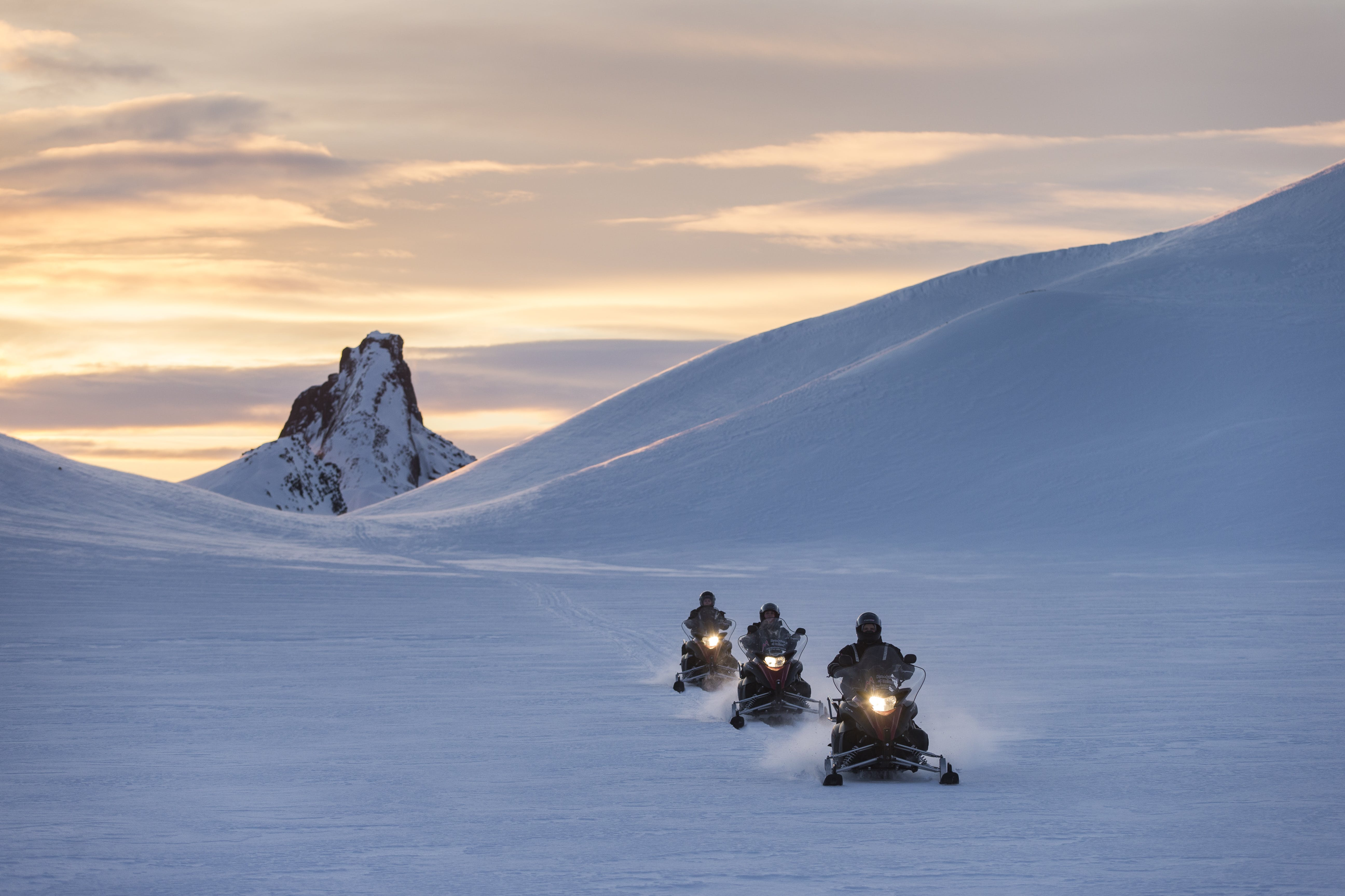 Snowmobile Tour and an Into the Glacier on Langjokull